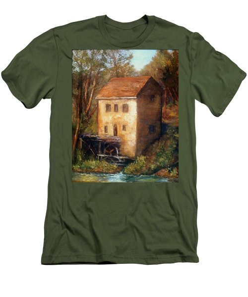 The Old Mill Men's T-Shirt (Slim Fit) by Gail Kirtz
