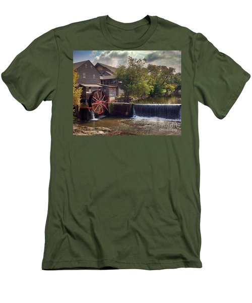 Men's T-Shirt (Slim Fit) featuring the photograph The Old Mill by Janice Spivey