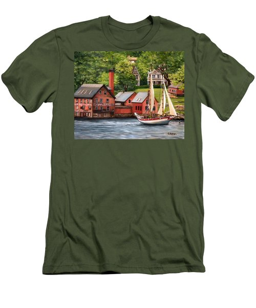 The Paint Factory And The Ardelle Men's T-Shirt (Slim Fit) by Eileen Patten Oliver