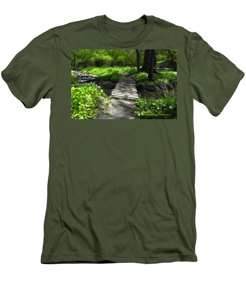 The Painted Forest From The Series The Imprint Of Man In Nature Men's T-Shirt (Athletic Fit)