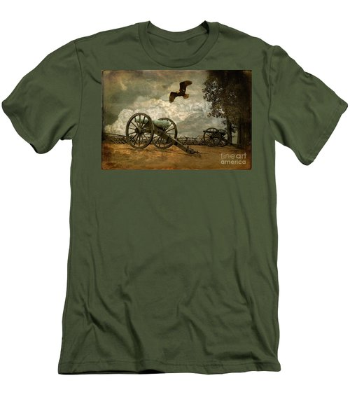 The Price Of Freedom Men's T-Shirt (Slim Fit) by Lois Bryan