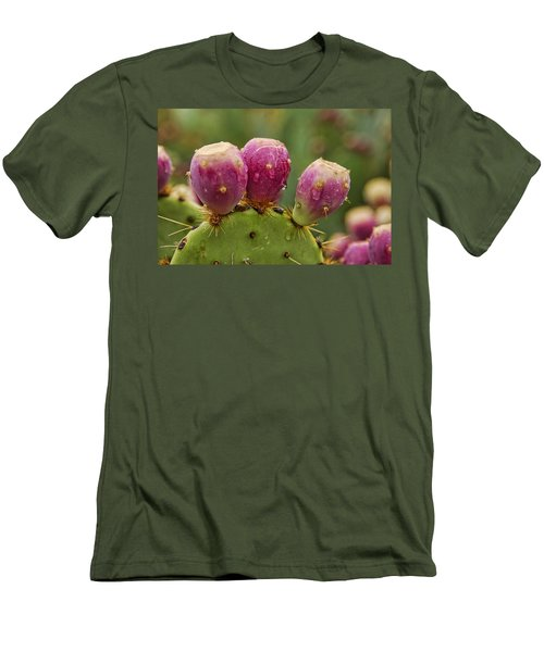 The Prickly Pear  Men's T-Shirt (Slim Fit) by Saija  Lehtonen