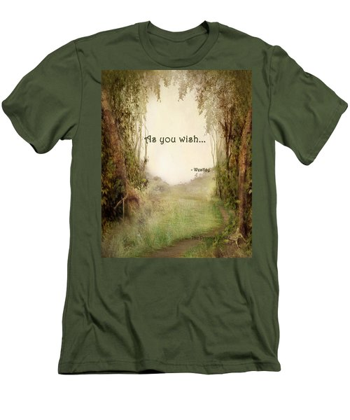 The Princess Bride - As You Wish Men's T-Shirt (Slim Fit) by Paulette B Wright