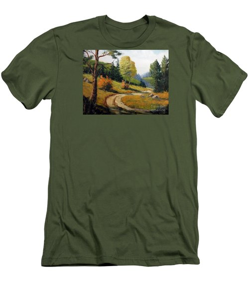 The Road Not Taken Men's T-Shirt (Slim Fit) by Lee Piper