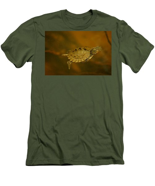 The Southeastern Map Turtle Men's T-Shirt (Athletic Fit)