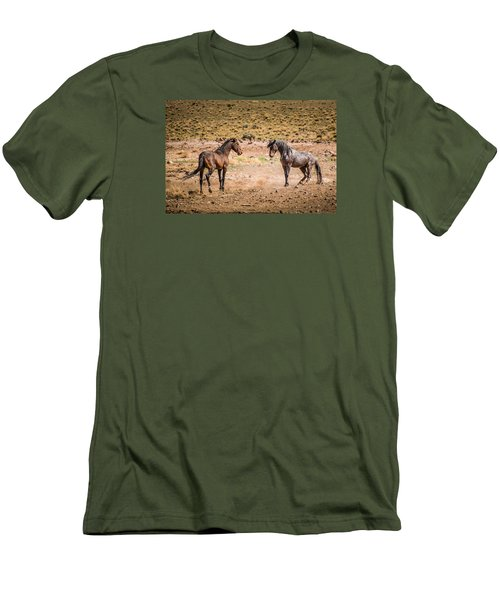 Men's T-Shirt (Slim Fit) featuring the photograph The Standoff  by Janis Knight