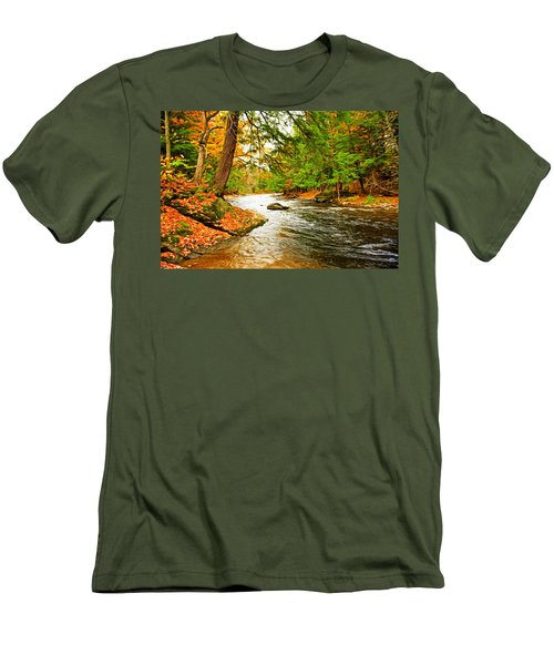 Men's T-Shirt (Slim Fit) featuring the photograph The Stream by Bill Howard