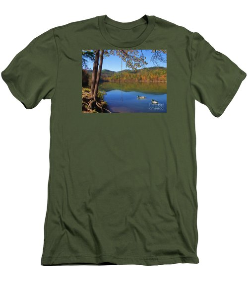 The Swimming Hole Men's T-Shirt (Slim Fit) by Lena Auxier