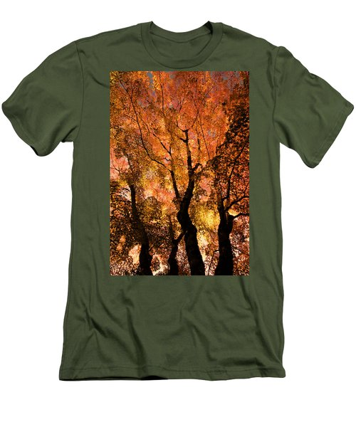 The Trees Dance As The Sun Smiles Men's T-Shirt (Slim Fit) by Don Schwartz