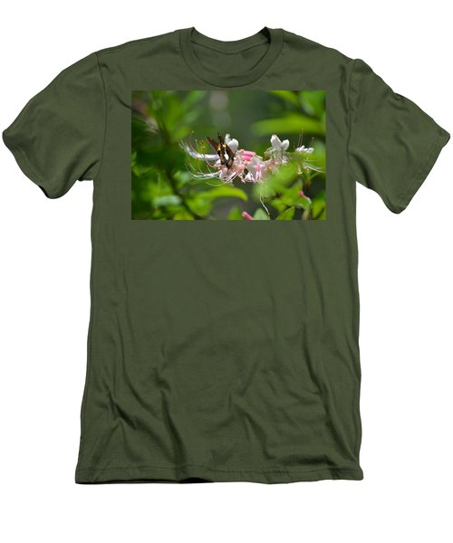 Men's T-Shirt (Slim Fit) featuring the photograph The Visitor by Tara Potts