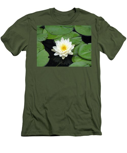 Men's T-Shirt (Slim Fit) featuring the photograph The Water Lilies Collection - 01 by Pamela Critchlow