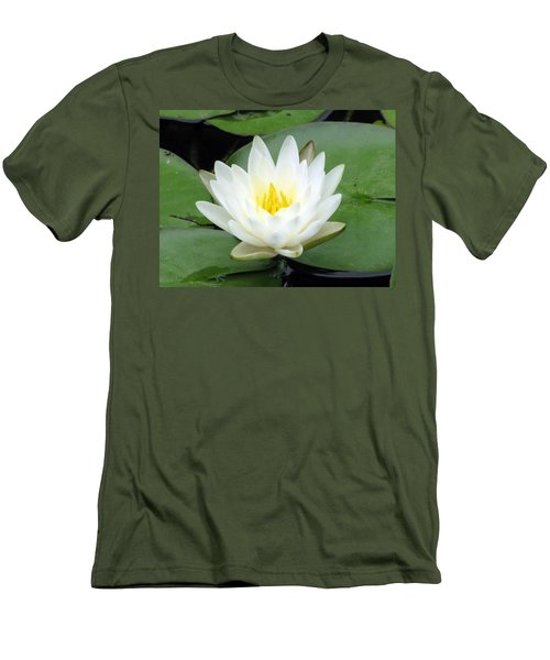 Men's T-Shirt (Slim Fit) featuring the photograph The Water Lilies Collection - 04 by Pamela Critchlow
