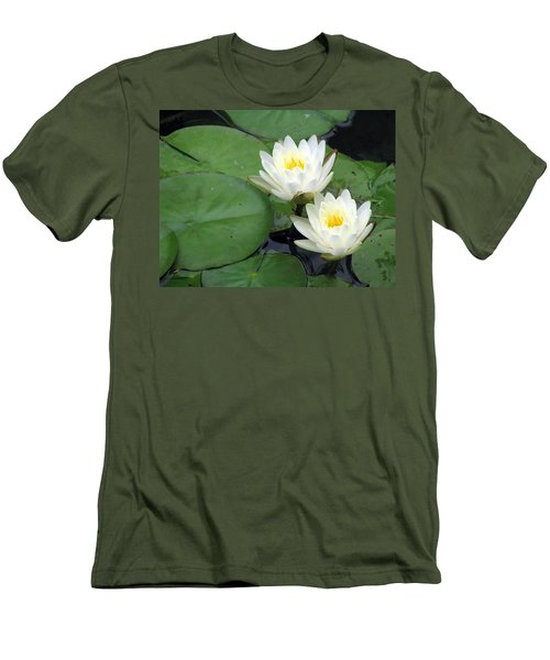 Men's T-Shirt (Slim Fit) featuring the photograph The Water Lilies Collection - 06 by Pamela Critchlow