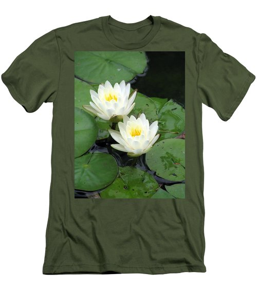Men's T-Shirt (Slim Fit) featuring the photograph The Water Lilies Collection - 07 by Pamela Critchlow