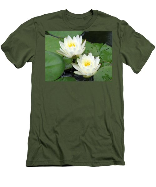 Men's T-Shirt (Slim Fit) featuring the photograph The Water Lilies Collection - 08 by Pamela Critchlow