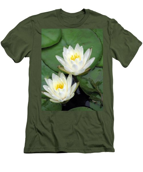 Men's T-Shirt (Slim Fit) featuring the photograph The Water Lilies Collection - 12 by Pamela Critchlow