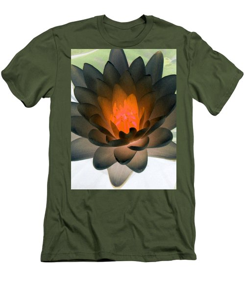 Men's T-Shirt (Slim Fit) featuring the photograph The Water Lilies Collection - Photopower 1036 by Pamela Critchlow