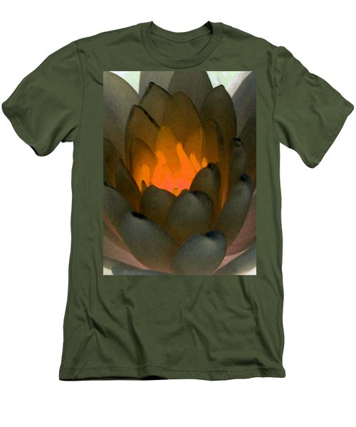 Men's T-Shirt (Slim Fit) featuring the photograph The Water Lilies Collection - Photopower 1043 by Pamela Critchlow