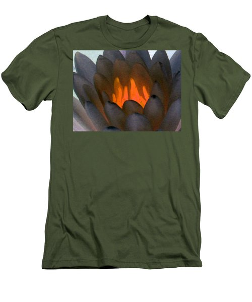 Men's T-Shirt (Slim Fit) featuring the photograph The Water Lilies Collection - Photopower 1044 by Pamela Critchlow