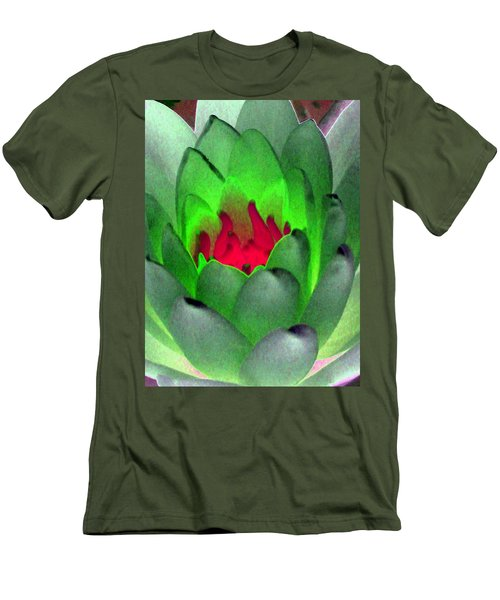 Men's T-Shirt (Slim Fit) featuring the photograph The Water Lilies Collection - Photopower 1122 by Pamela Critchlow