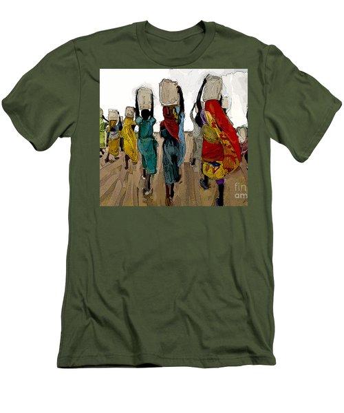 The Water Workers Men's T-Shirt (Slim Fit) by Vannetta Ferguson
