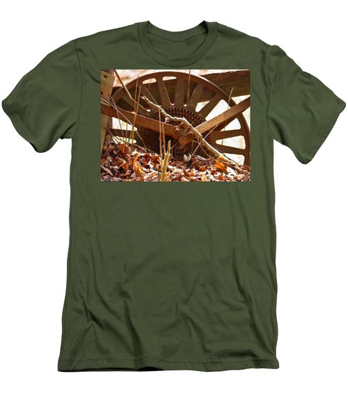 Men's T-Shirt (Slim Fit) featuring the photograph The Wheel Of Planting by Nick Kirby