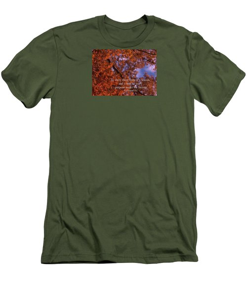 There Is A Season Ecclesiastes Men's T-Shirt (Athletic Fit)