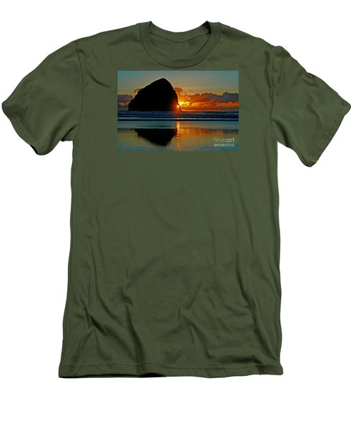 Threading The Needle Men's T-Shirt (Slim Fit) by Nick  Boren