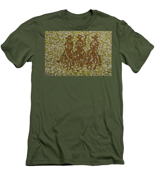 Men's T-Shirt (Slim Fit) featuring the painting Amigos by Kurt Olson