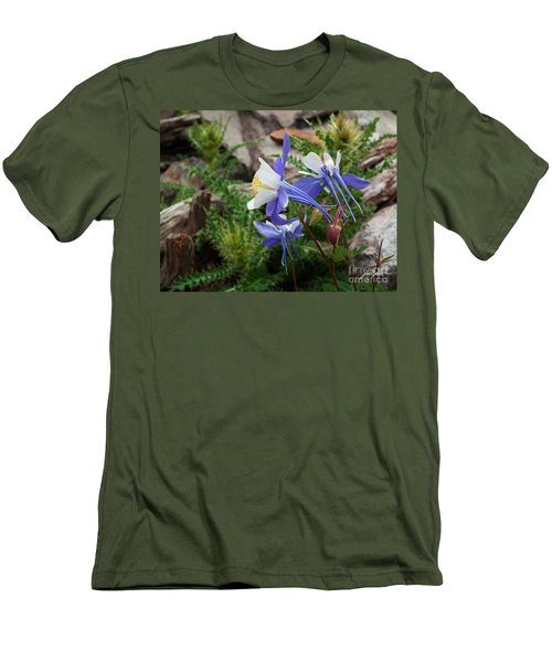 Three Columbine Men's T-Shirt (Athletic Fit)