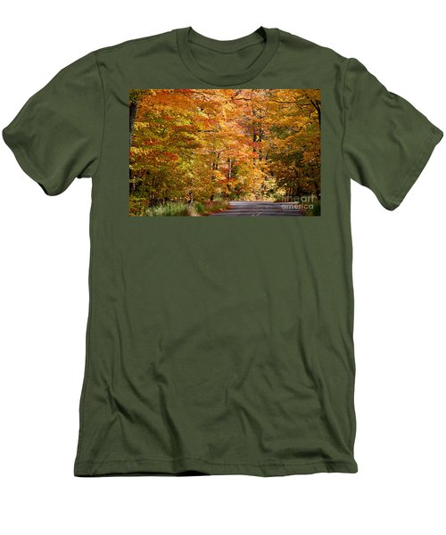 Men's T-Shirt (Athletic Fit) featuring the photograph Through The Woods By D. Perry Lawrence by David Perry Lawrence
