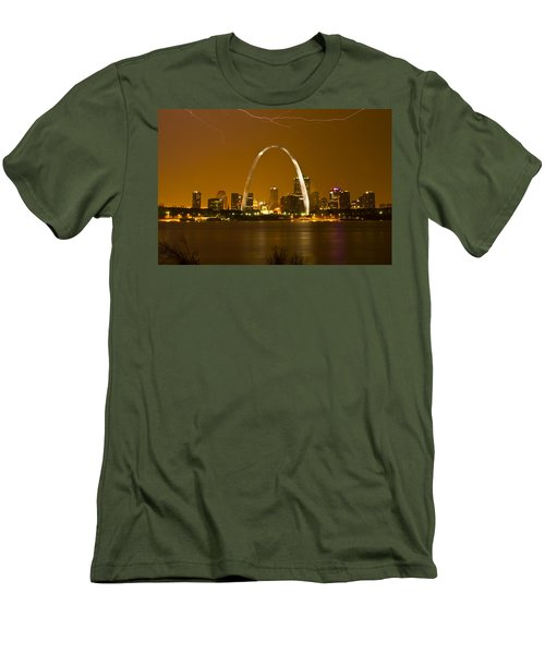Thunderstorm Over The City Men's T-Shirt (Athletic Fit)