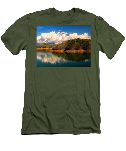 Thunderstorm Rolling Over The Smokies Men's T-Shirt (Slim Fit) by Chris Flees