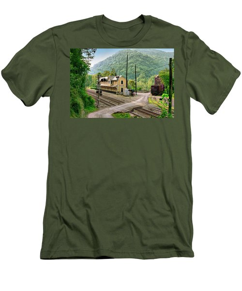 Thurmond After The Rain Men's T-Shirt (Slim Fit) by Mary Almond
