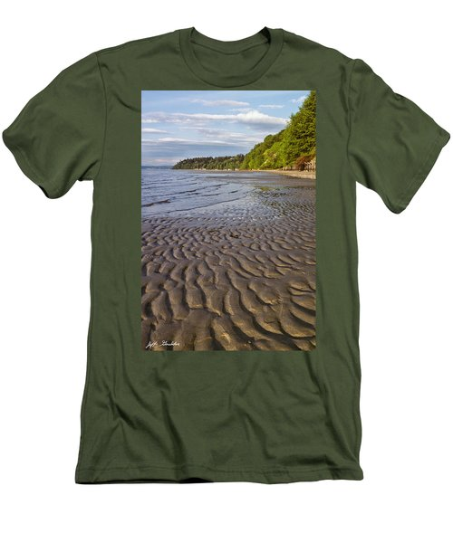 Tidal Pattern In The Sand Men's T-Shirt (Slim Fit) by Jeff Goulden