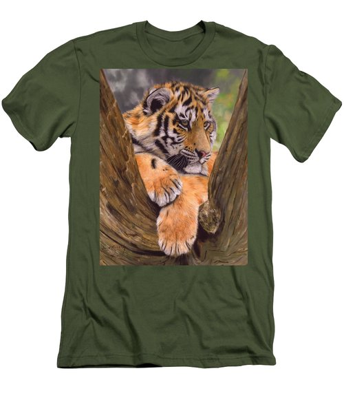 Tiger Cub Painting Men's T-Shirt (Slim Fit)