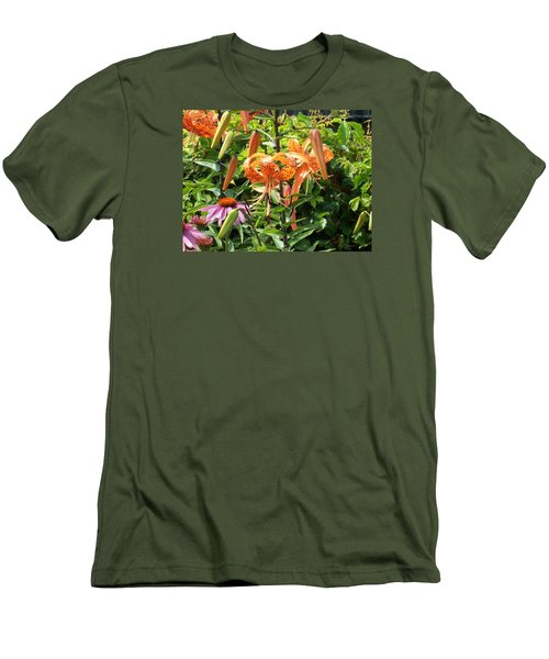 Tiger Lilies Men's T-Shirt (Slim Fit) by Catherine Gagne