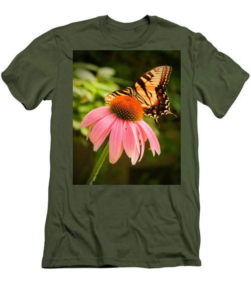 Tiger Swallowtail Feeding Men's T-Shirt (Athletic Fit)