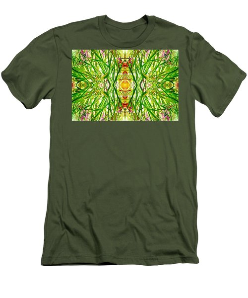 Tiki Idols In The Grass  Men's T-Shirt (Athletic Fit)