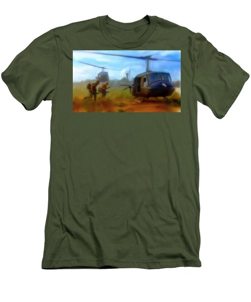 Time Sacrificed II Vietnam Veterans  Men's T-Shirt (Slim Fit) by Iconic Images Art Gallery David Pucciarelli