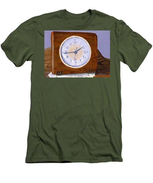 Men's T-Shirt (Slim Fit) featuring the painting Time Will Tell by Lynne Reichhart