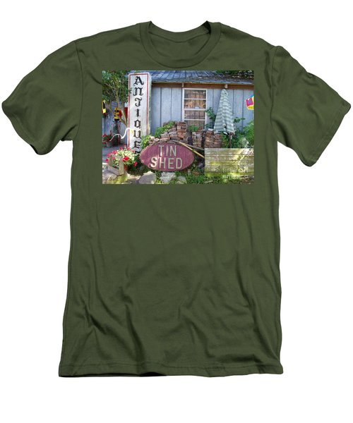 Tin Shed Apalachicola Florida Men's T-Shirt (Athletic Fit)