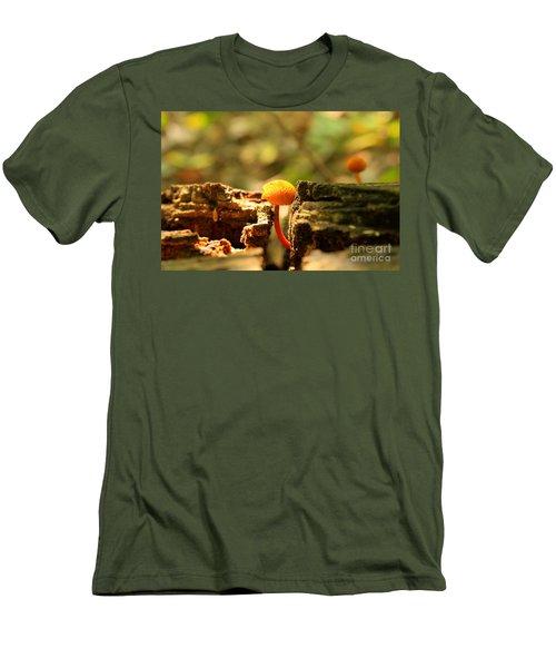 Tiny Mushroom Men's T-Shirt (Slim Fit) by Melissa Petrey