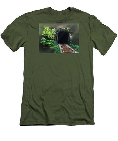 Tiptop Train Tunnel Men's T-Shirt (Athletic Fit)
