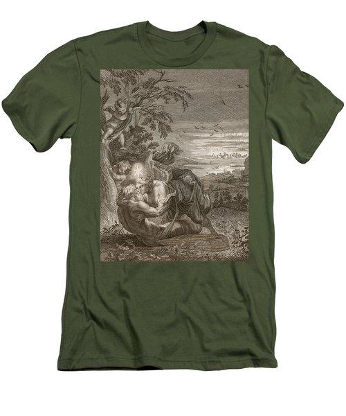 Tithonus, Auroras Husband, Turned Into A Grasshopper Men's T-Shirt (Slim Fit) by Bernard Picart