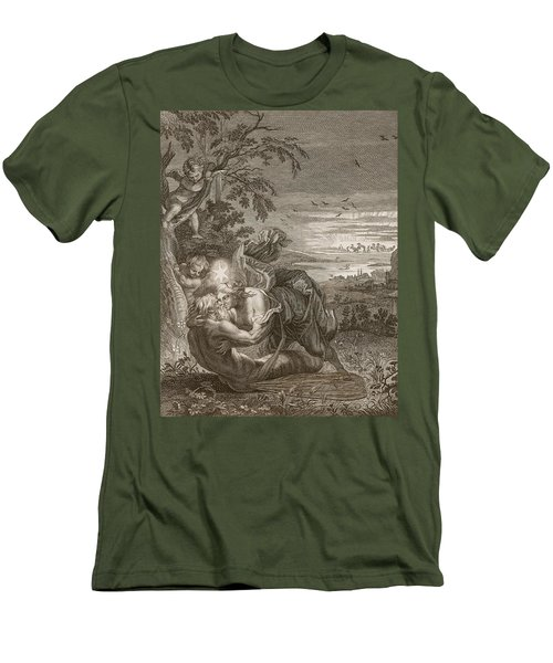Tithonus, Auroras Husband, Turned Into A Grasshopper Men's T-Shirt (Athletic Fit)