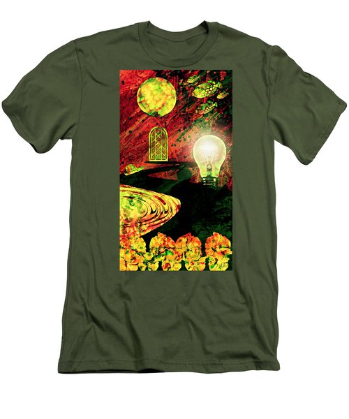 Men's T-Shirt (Slim Fit) featuring the mixed media To The Light by Ally  White