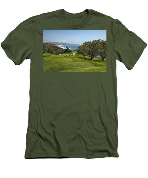 Torrey Pines Golf Course North 6th Hole Men's T-Shirt (Athletic Fit)