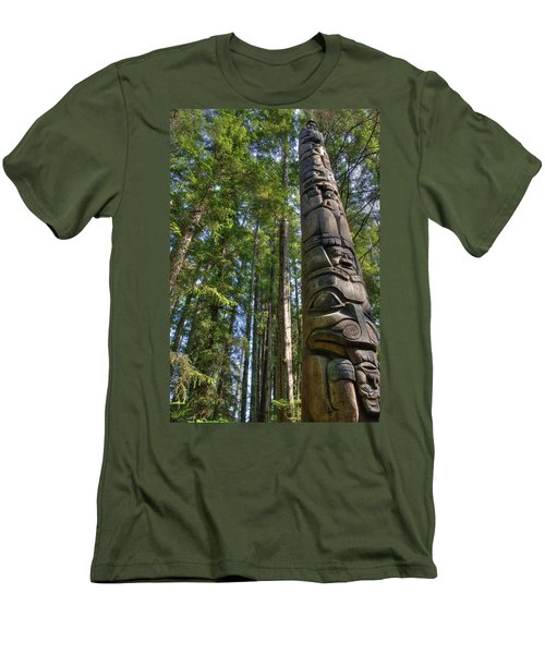 Totem Pole Men's T-Shirt (Athletic Fit)