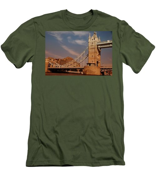 Tower Bridge Sunset Men's T-Shirt (Slim Fit) by Jonah  Anderson
